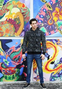 Limkokwing Fashion Club Mens Snakeskin Hoodie