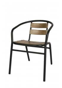 Vetop Storage Metal Chair - Brown / Black