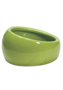 Living World Ergonomic Dish - Small - 120 mL - Green/Ceramic
