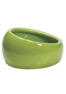 Living World Ergonomic Dish - Large - 420 mL - Green/Ceramic