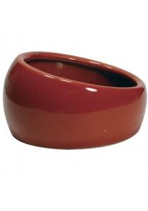 Living World Ergonomic Dish - Small - 120 mL - Terra Cotta/Ceramic
