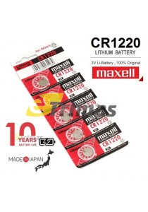 3PCS Original Hitachi Maxell CR1220 Button Cell Watch Lithium Battery