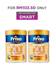 2 units Friso Gold Young Explorer Milk Powder Step 3 (1 years old+) 900g