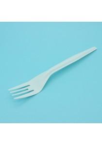 """Wiz Disposable Plastic Fork (6.5"""" White Fork) x 500pcs"""