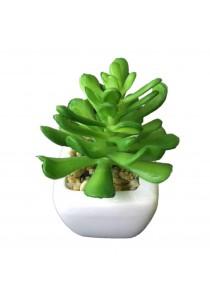 Artificial Succulent With White Porcelain Flower Pot - P