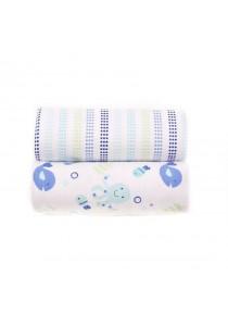 OWEN Baby Receiving Blankets, 2 -Piece Set (Blue)