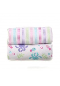 OWEN Baby Receiving Blankets, 2 -Piece Set (Pink)