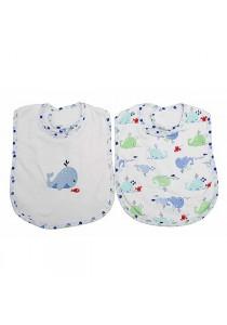 OWEN Baby Bib, 2 -Piece Set (Blue)