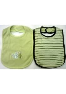 OWEN Baby Bib, 2 -Piece Set (Green)