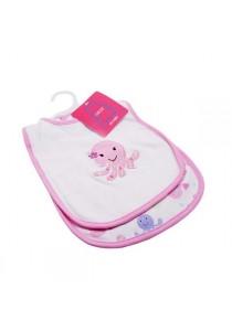 OWEN Baby Bib, 2 -Piece Set (Pink)