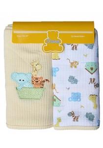 OWEN Baby Thermal Blanket, 2 Piece Set - Yellow