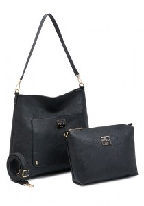 Angel Court Polo 2 in 1 Shoulder Bag ACP67-1734 (Black)