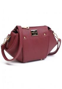 Angel Court Polo Cross-Body Bag ACP67-1765 (Dark Red)