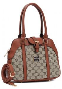Angel Court Polo Trendy Top Handbag ACP67-1797 (Brown)