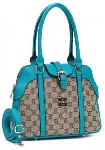 Angel Court Polo Trendy Top Handbag ACP67-1798 (Turquoise)