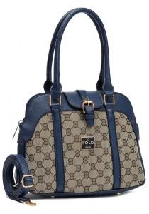 Angel Court Polo Trendy Top Handbag ACP67-1800 (Dark Blue)