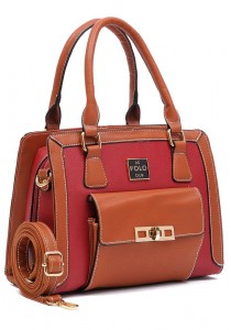 Angel Court Polo Trendy Top Handbag ACP67-1805 (Dark Red)