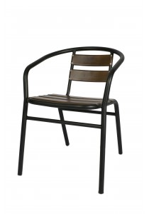 Vetop Storage Metal Chair - Dark Brown / Black
