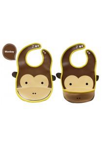 PVC Baby Bib (Wipe-clean Quality) - BB04 (Monkey-Monkey)