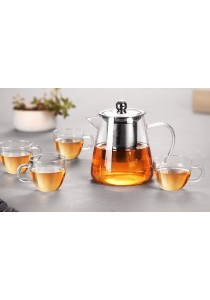 OEM 750 ml Glass Teapot with Stainless Steel Infuser