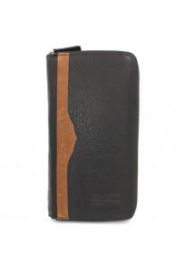 BULL RYDERS Genuine Leather Bifold Long Zipper Wallet BWDY-80140