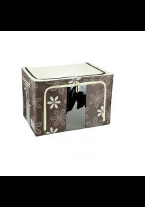 66L Durable Waterproof Double Window Storage Box (Flower)