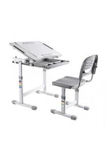 Health Ergo Study Desk & Chair With Paper Roll Holder Elfin B203 Grey