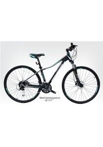 "700C XDS Iva-Rise Matt Black (Green) (27 Speed) Size S (15"")"