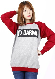 Long Sleeve Graphic Tee - M703 (Red)