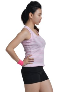 ViQ Ladies Singlet (Pink Stripe)