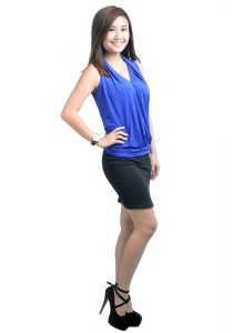 ViQ Ladies Fashion Top (Blue)