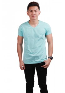 ViQ V Neck T-Shirt (Light Blue)