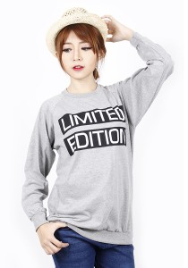 Long Sleeve Graphic Tee - M722 (Grey)