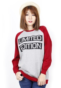 Long Sleeve Graphic Tee - M722 (Red)