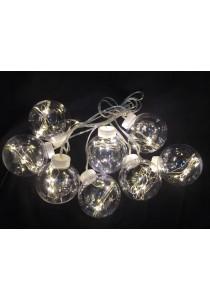 64 LED 8 CM Bulb + Rattan Light