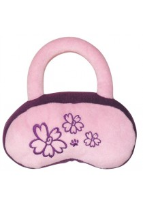 Dogit Luvz Plush Dog Toy, Pink/Purple Purse