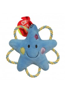 """Dogit """"Happy Luvz"""" Plush Dog Toy with Squeaker - Sandy the Star - Large"""