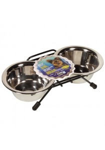 Dogit Stainless Steel Double Dog Diner - Mini