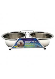 Dogit Stainless Steel Double Dog Diner - Medium