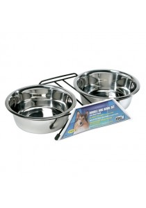 Dogit Stainless Steel Double Dog Diner - Large