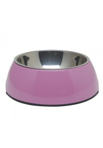 Dogit 2-in-1 Dog Dish - Small - Pink (350ml)