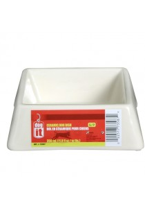 Dogit Square Ceramic Dog Dish - Cream - Small (350ml)