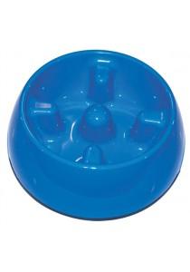 Dogit Go Slow Anti-Gulping Dog Dish - Blue - Small (300ml)