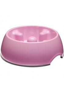 Dogit Go Slow Anti-Gulping Dog Dish - Pink - Small (300ml)