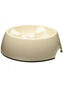 Dogit Go Slow Anti-Gulping Dog Dish - White - Small (300ml)