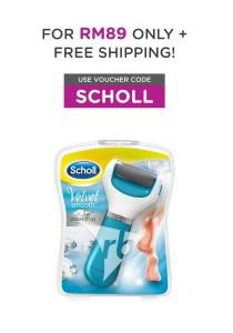 Scholl Velvet Smooth Express Pedi Foot File (Blue) + Scholl Sleeping Compression Socks - L