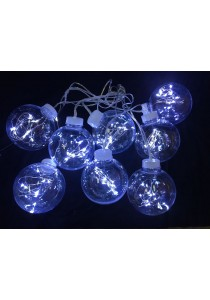 80LED 10CM Bulb + Rattan Light