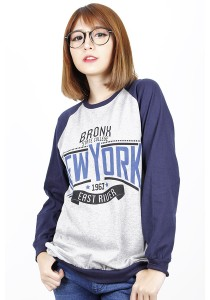 Long Sleeve Graphic New York Tee (Blue)