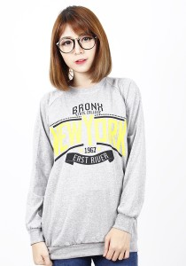 Long Sleeve Graphic New York Tee (Grey)