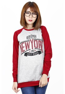 Long Sleeve Graphic New York Tee (Red)